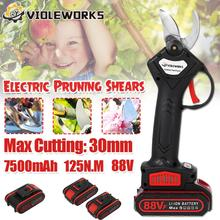 88V 800W Cordless Pruner Lithium-ion Pruning Shear Efficient Fruit Tree Bonsai Pruning Electric Tree Branches Cutter Landscaping