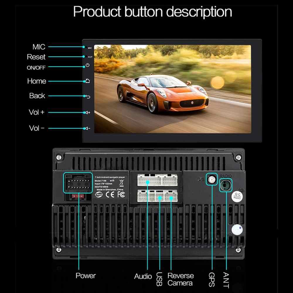 Android 9.1 2 + 16/32G araba multimedya 2Din otomobil radyosu 2 Din 7 inç HD Autoradio USB WIFI BT GPS ayna bağlantısı evrensel
