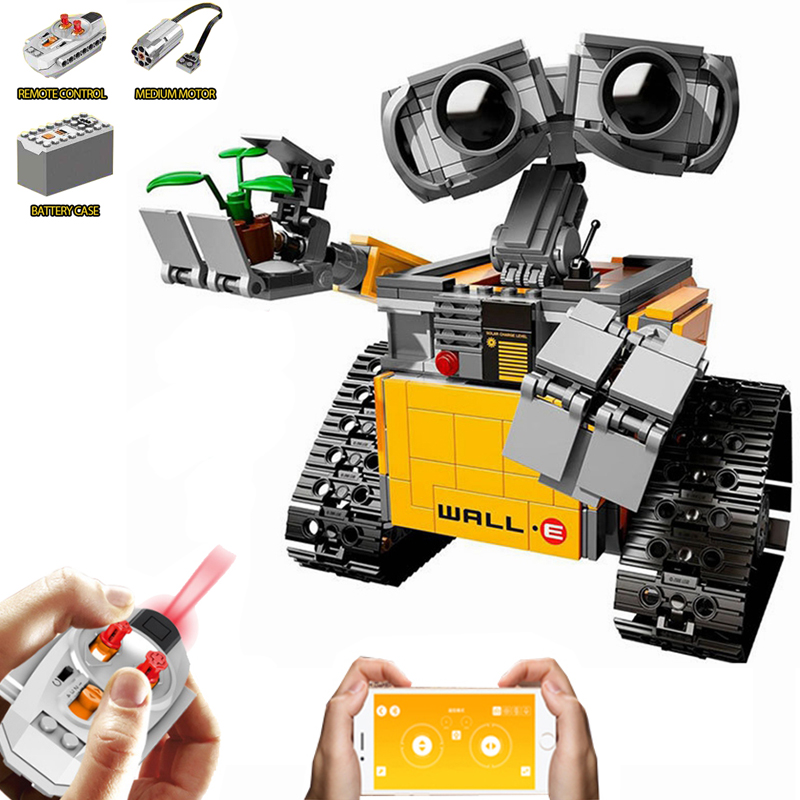 Legoing Technic Motor For WALL E Robot Compatible Legoings Creator Robots Electric Remote Control Building Blocks Kid Toys Gifts