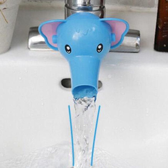 Kawaii Children Faucet Extender Sink Handle Extension Toddler Kid Bathroom Children Hand Wash Tools Extension 3
