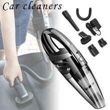 лучшая цена Portable Car Vacuum Cleaner Wireless Wet And Dry Dual Use Vacuum Cleaner For Auto Clean 120W 12V Handheld Aspiradora Para Auto