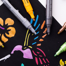 color metal flash pen photo DIY marker painting supplies calligraphy graffiti hand account stationery colores drawing paint art