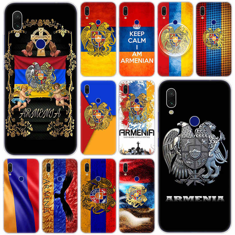 Hot Armenia Armenia Bendera Silikon Case untuk Xiaomi Redmi K20 PRO 8 8A 7 7A 6 6A 5 Plus S2 note 8 7 6 5 Pro 4 4X Fashion Cover