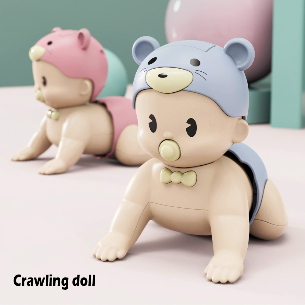 Baby Toddler Toys Fun Cute Climbing Early Education Puzzle Electric Learning Crawling Doll Can Sound Walk Birthday Kid Pop Gifts