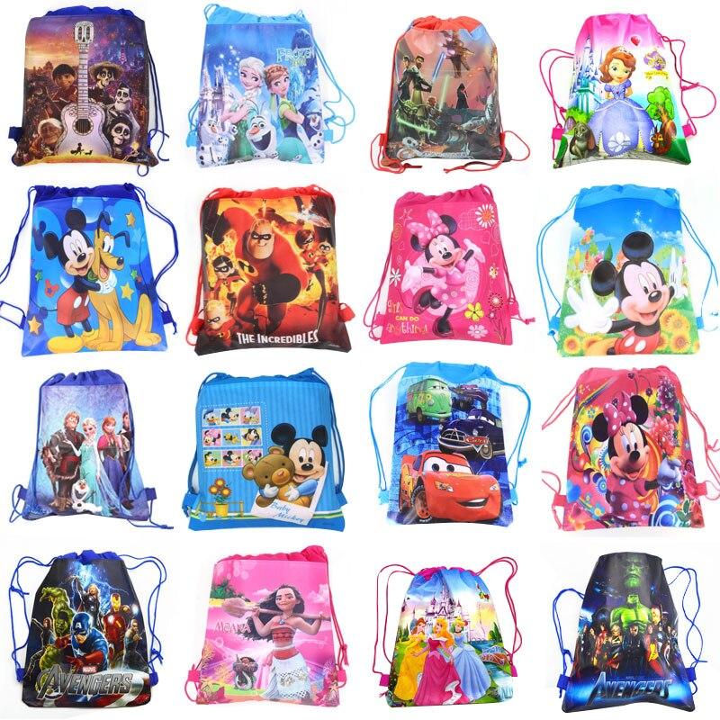 Рюкзак для покупок из нетканого материала с изображением Моаны, Коко, Софии, Диснея, принцессы Софии, Моаны «Холодное сердце»