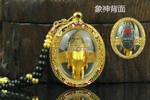 Юго-Восточная Азия Таиланд храмовый Греко буддийский Карманный талисман на удачу благословит золото Ганеша Богатство Бог карта Будды подв...