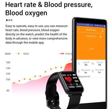 R16 Smart Watch IP68 Waterproof Smartwatch Heart Rate Blood Pressure Monitor Fitness Tracker Men Women Smart Bracelet PK B57 1