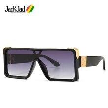 JackJad Fashion Modern Cool Square Shield Style Sunglasses M