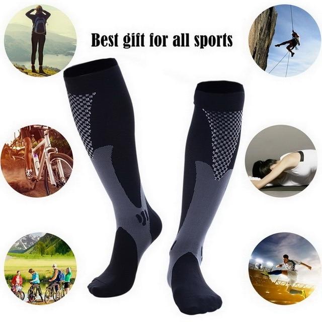 Meias de compressão meias de enfermagem médica de náilon especializada ciclismo ao ar livre de secagem rápida respirável adulto meias esportivas 2