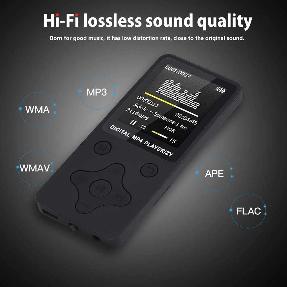 35 @ 2019 Fashion Portable Mp4 bezstratnej dźwięku odtwarzacz muzyczny rejestrator Fm Walkman Mini odtwarzanie muzyki, Radio, nagrywanie, wideo
