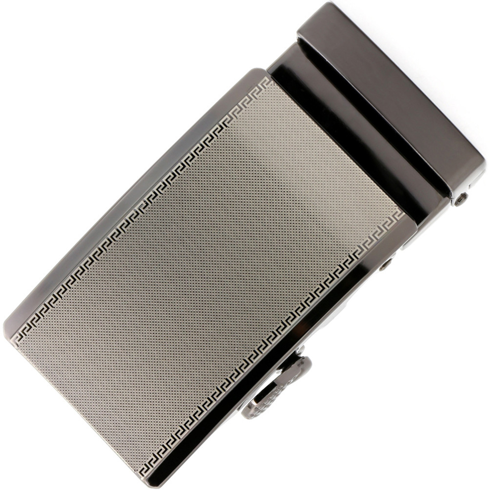 Simple 3.6cm Width Pants Casual Daily Use Business Activity Automatic Slide Anti Scratch Rust Proof Zinc Alloy Men Belt Buckles