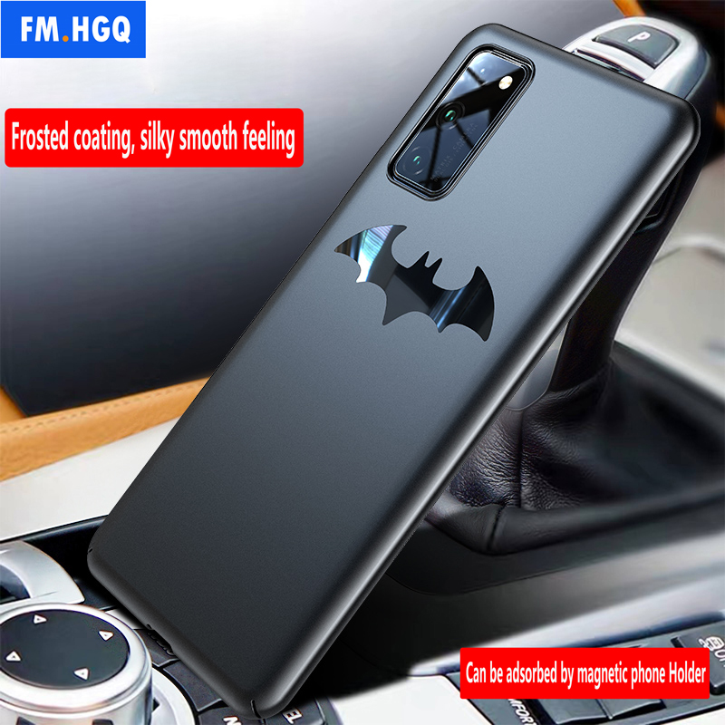 Luxury Phone Case for Huawei Honor V30 20 Pro Ultra Thin Matte Car Magnetic Holder Case for Honor 20S 10 10i PC Hard Case Cover image