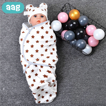 AAG Cotton Baby Sleeping Bag Sack Newborn Wrap Cocoon for Newborns Envelope for Discharge Infant Sleeping Bag in the Hospital цена
