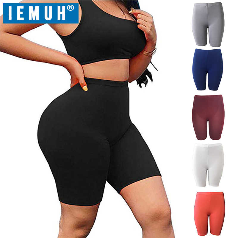Iemuh 2020 nova mulher cintura alta energia sem costura yoga shorts push up hip gym shorts de fitness esportes leggings