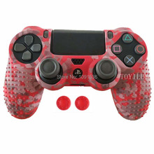 Купить с кэшбэком Studded Anti-Slip Rubber Gel Protective Silicone Case Skin Grip Cover For Sony Playstation 4 PS4 Controller Wireless slim pro