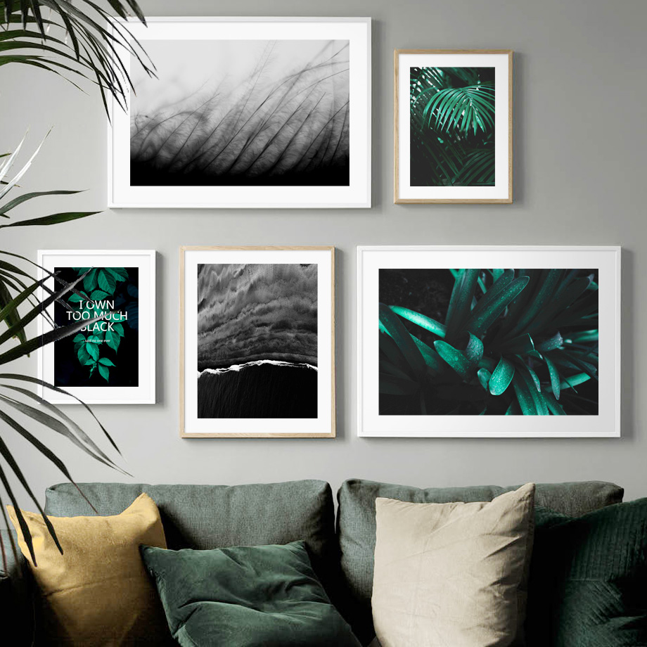 Green Plant Coconut Landscape Wall Art Print Canvas Painting Nordic Canvas Poster And Prints Wall Pictures For Living Room Decor in Painting Calligraphy from Home Garden