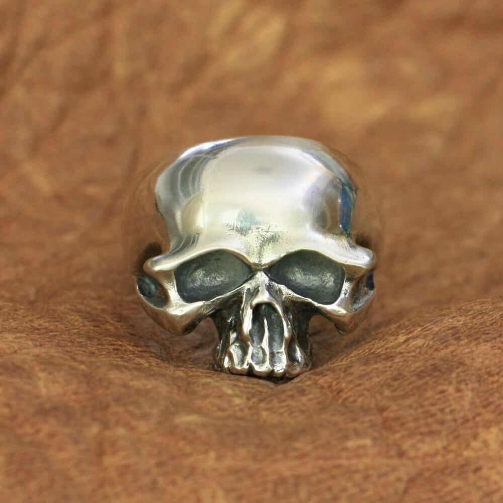 Bague crâne homme 925 argent Sterling Biker Rock Punk anneau TA171 taille américaine 7 à 15
