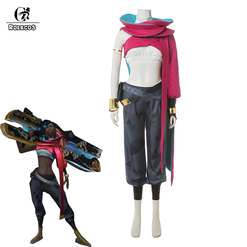 ROLECOS LOL True Damage Senna Cosplay Costume LOL Senna Cosplay Sexy Costume Women Top Pants Playsuits Bag Bracelet Full Set