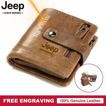 цена на Free Engraving Gift Genuine Leather Wallet Men Coin Purse Small Card Holder PORTFOLIO Portomonee Male Walet for Friend Money Bag