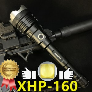 XHP160 Powerful Flashlight LED Flashlight Torch USB Rechargeable Lanterna Tactical Hunting 21700 Zoom Lamp Flash Light Zoomable(China)