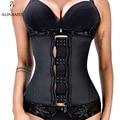 XXS-6XL Frauen Latex Gummi Taille Trainer Körper Shaper Haken Zipper Bustiers Taille Cincher Tops Abnehmen Shapewear Gürtel Dünnen Gürtel
