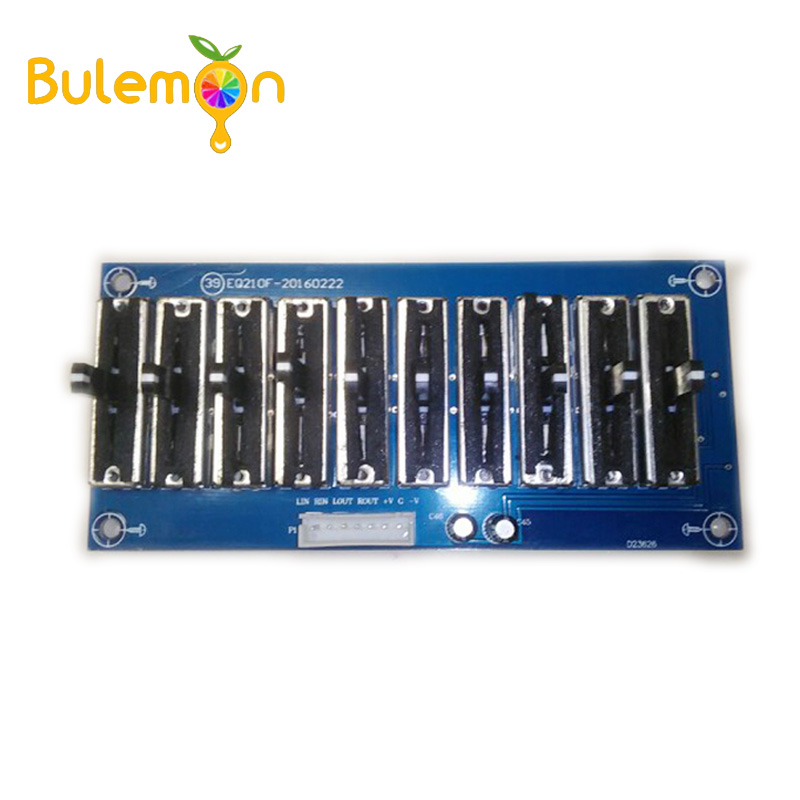10 Band Stereo EQ Equalizer Board Preamplifier Tone Adjustable Preamp Module 2.0Channel  For Amplifier