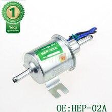 12 v bomba de combustível elétrica de baixa pressão parafuso fixação do fio gasolina diesel HEP 02A hep02a bomba combustível para carburador, motocicleta, atv