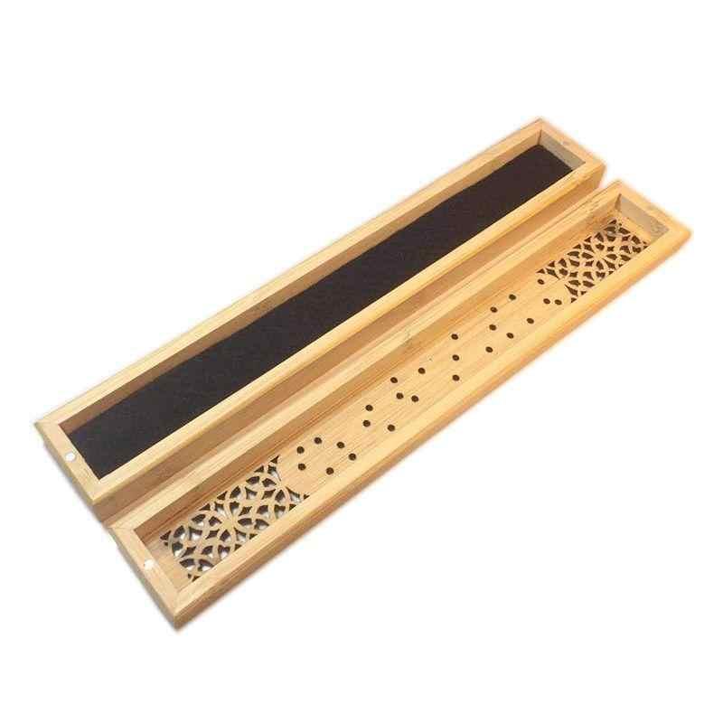 Дым водопад курильница для благовоний горелка дзен бамбук держатель для распространения благовоний прямоугольник Китайский Будда курильница домашний декор