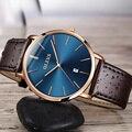 Endlich Freiheit Uhren für Männer Uhren Luxus Marke Olevs Quarz Gürtel Ultradünne Mann Handgelenk Uhren Wasserdicht reloj hombre-in Quarz-Uhren aus Uhren bei