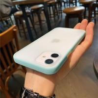 Funda de teléfono mate transparente de lujo para iPhone 12 Pro Max Mini X XS XR 8 7 Plus SE 2, funda protectora de silicona líquida a prueba de golpes