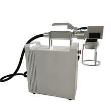 Handheld 20W 30W Raycus mini fiber laser marking  Fiber Laser Marking Machine metal machine for big size materials