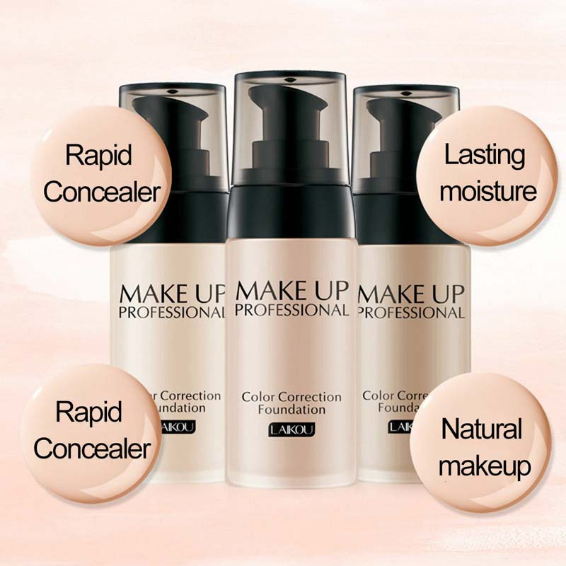 40ML Long Lasting Face Foundation Base Makeup Waterproof Matte Mineral Foundation Cream Full Whitening Color Correction TSLM2 in Face Foundation from Beauty Health