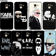 Case Fashion Karl Lagerfeld Silicone For Samsung Galaxy S10 case S8 S6 S7 S9 J2 J3 J5 J7 J4 J6 J8 2018 Plus Etui Coque Cover