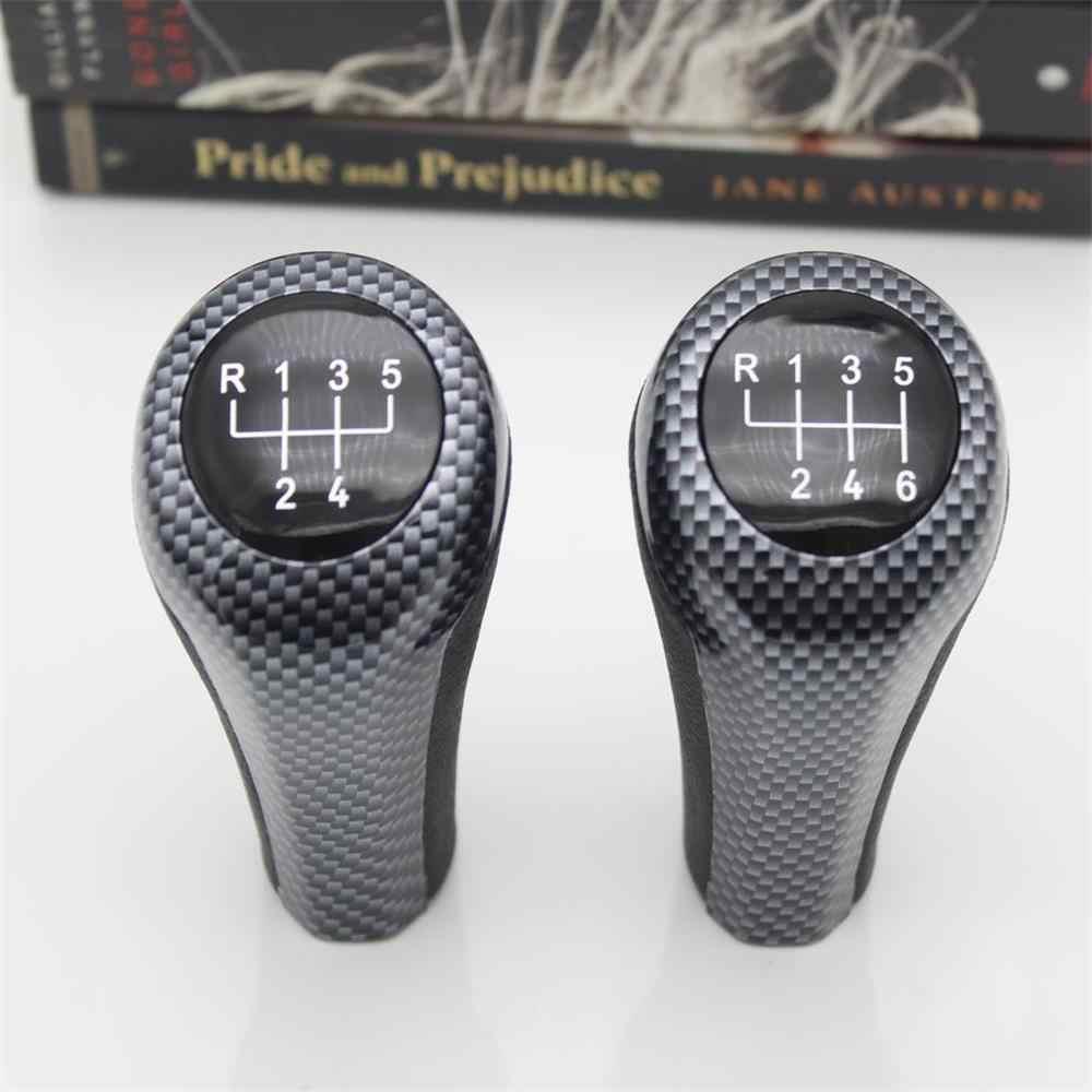 6-Speed PU Leather Car Gear Shift Knob For BMW 3 5 6 Series E30 E34 E39 E46 E90