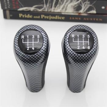 For BMW 1 3 5 6 Series E30 E32 E34 E36 E38 E39 E46 E53 E60 E63 E83 E84 E90 E91 Car 5 6 Speed Leather Gear Stick Shift Knob image