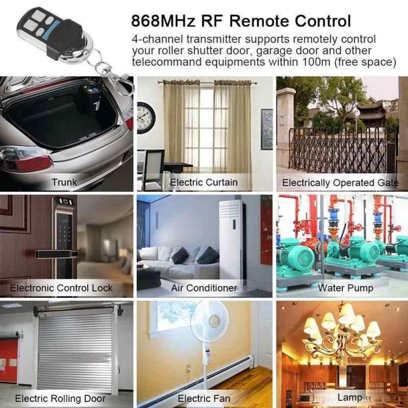 Universal Remote Control 868 Mhz 4 Channel Rf Transmitter Clone Copy Remote Control Pintu Garasi Pembuka Remote Receiver Modul