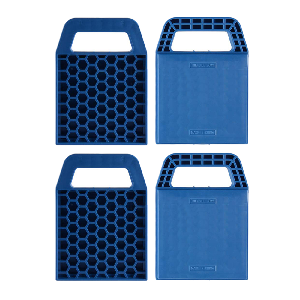 4Pcs Car Rv Plastic Tire Pad Caravan Support Board Jack Pad Jack Pad
