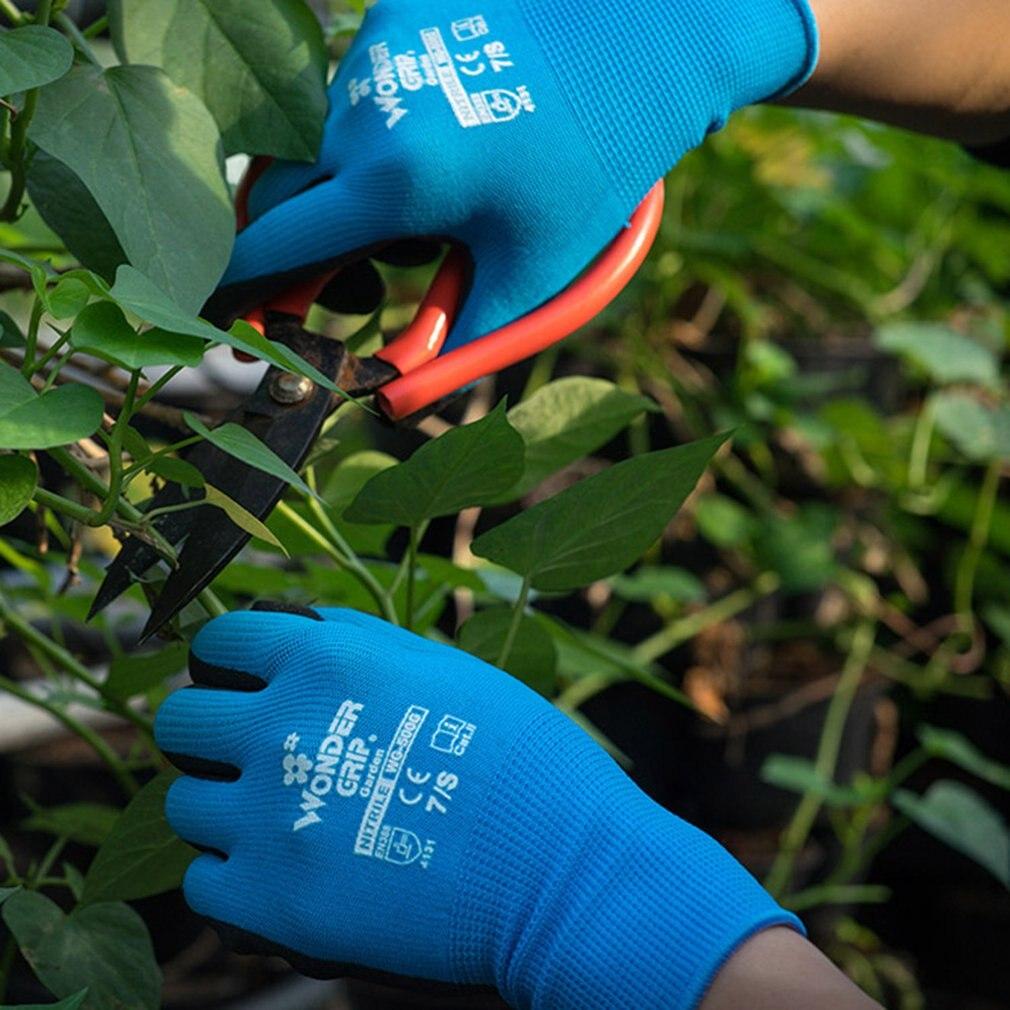 Children Garden Safety Glove Nylon Nitrile Sandy Coated Labor Glove WG-500G