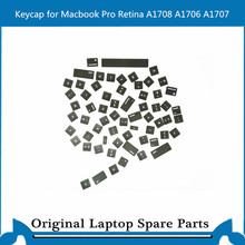 Original A1708 A1706 A1707 RU Keyboard Key Cap Genuine New for Macbook Pro 13.3″ Retina Keycap English UK Standard 2016-2017