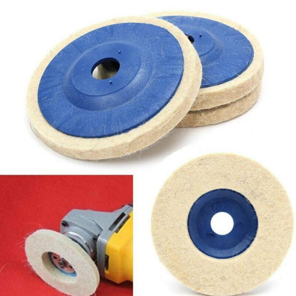 1 Pc 4 Inch Wool Polishing Pads Buffing Angle Grinder Wheel Felt 100mm Polishing Disc Pad Set Useful Abrasive Tools