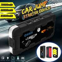 Multi-functional Jump Starter 20000/68800/89800mAh 400A/600A Portable Car Battery Booster Charger Power Bank Starting Device 12V