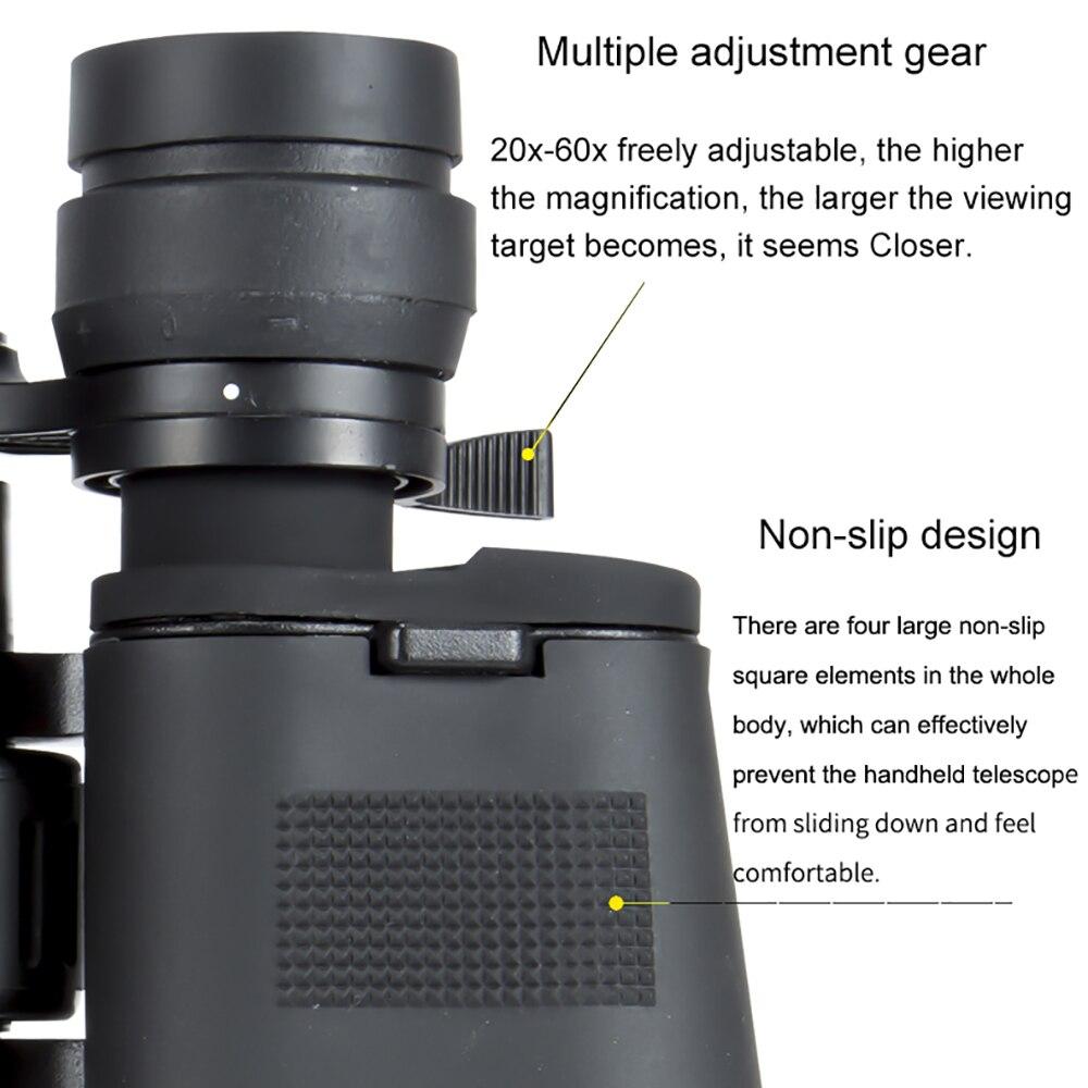 Image 5 - 2020 nova borwolf binóculos 20 60x70 hight definição telescópio militar à prova dwaterproof água para observação de aves caminhadas caça esporteTelescópio e binóculos   -