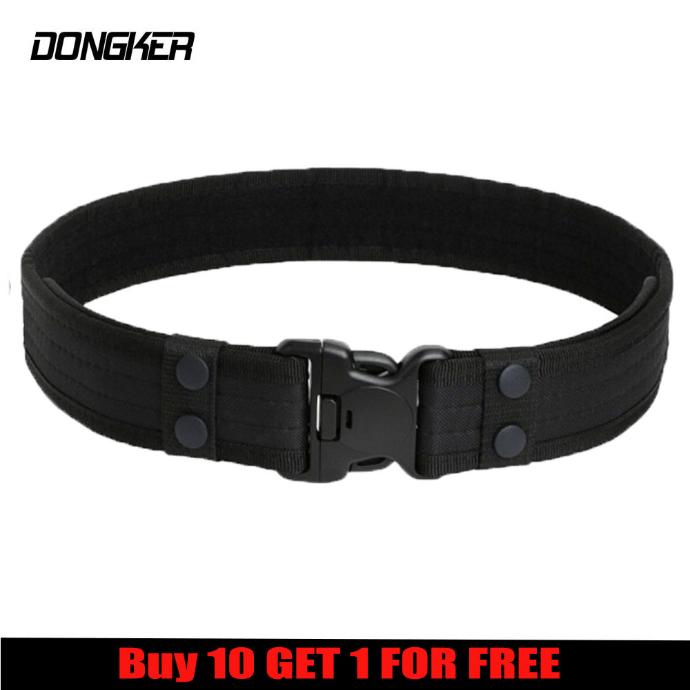 Sport-Belt Waistband Hook Buckle Loop Combat Duty Military Army Adjustable Plastic Outdoor title=