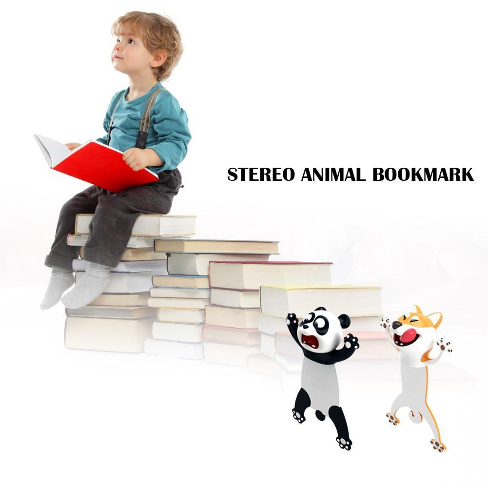 3D Stereo Bookmark Cartoon Novelty Animal Bookmark Teens For Reading Original Party Favors Cute Students Birthday PVC Gift U6N9
