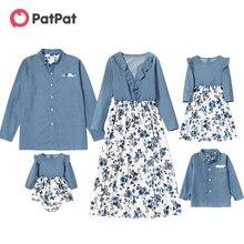 Patpat 2021 Новинка весны для всей семьи комплекты одежды из
