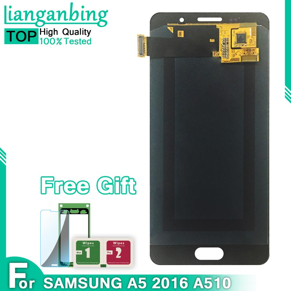 Super Amoled LCD For SAMSUNG Galaxy A5 2016 Display A510 A510FD A510F A510M LCD Touch Screen Digitizer Assembly Replacement