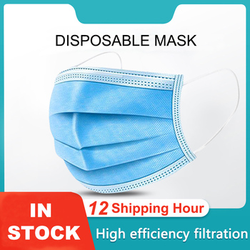 100Pcs Disposable Face Masks Anti-Dust Mascarillas De Protection Mouth Mask Non Woven Protective 3 Layers Filter Earloops Maske