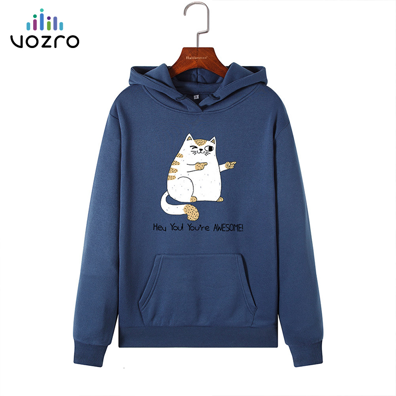 VOZRO Suit-dress Loose Increase Down Even Hat Long Sleeve Ma'am Loose Coat Sweatshirt Hoodies Hoodie Moletom Clothes