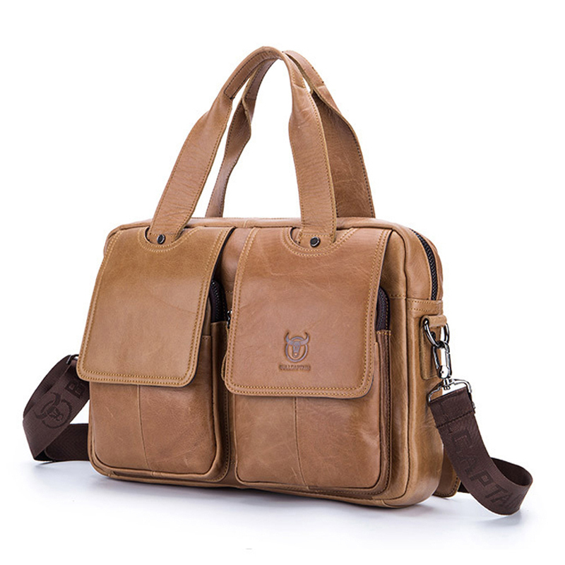Genuine Leather Briefcase Men Casual Business Bag Office Work Briefcase Bags Laptop Bag Travel Handbag Bolso Hombre Maleta Sac