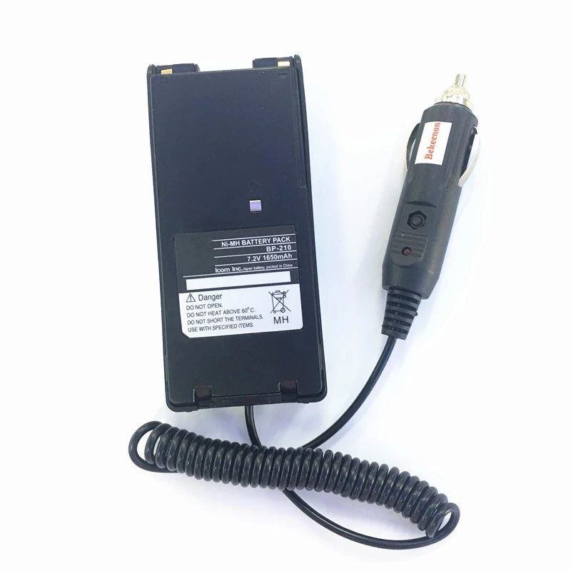 Input DC12V Car Charger Eliminator For Icom IC-V8 IC-V82 IC-F30GT IC-F40GT IC-F31GS IC-F3GS IC-F11 Etc Walkie Talkie